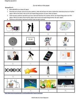 Imagina Lección 8: La tecnología y la ciencia  partner matching activity