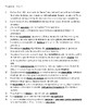 Imagina ch. 5 vocabulary practice sheet - Spanish 4