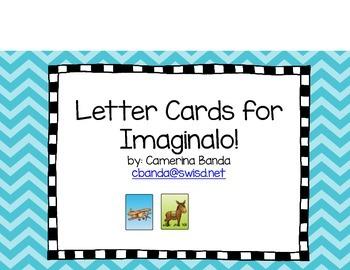 Imaginalo Letter Cards- Tarjetas de sonidos de Imaginalo!