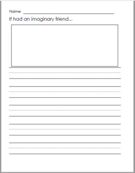 Imaginary Friend Worksheets & Teaching Resources | TpT