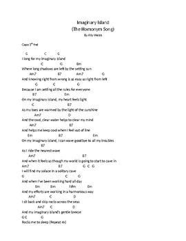 Imaginary Island Lyrics and Chords