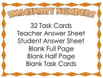 Imaginary Number {32 Task Cards}