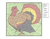Imaginary Number Coloring Puzzle Thanksgiving Turkey