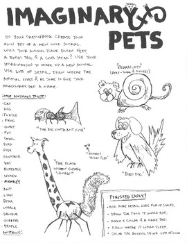 Imaginary Pets - Drawing Activity/Game