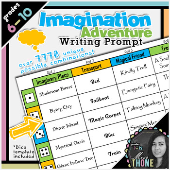 Imagination Adventure Roll-A Writing Prompt
