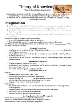 Imagination As A Way Of Knowing -Theory of Knowledge