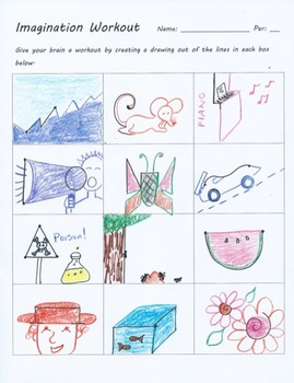 Imagination Workout Creativity Test Drawing Sub Art Lesson ...