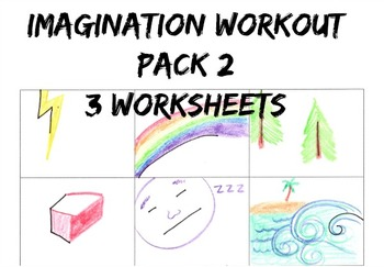 Imagination Workout Pack 2 Creativity Test Drawing Sub Art Lesson Worksheet