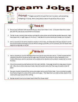 Imaginative Narrative Writing - Dream Jobs