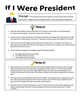Imaginative Narrative Writing - If I Were President