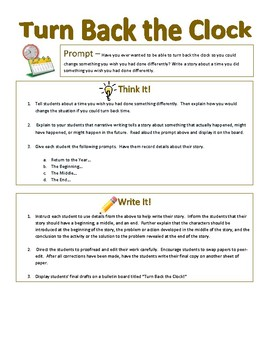 Imaginative Narrative Writing - Turn Back the Clock