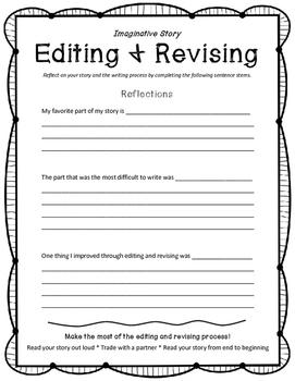 Imaginative Story Editing and Revising Checklist