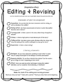 Imaginative Story Editing and Revising Checklist