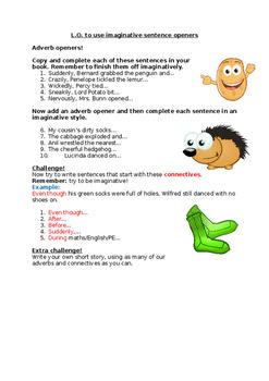 Imaginative adverb sentence openers