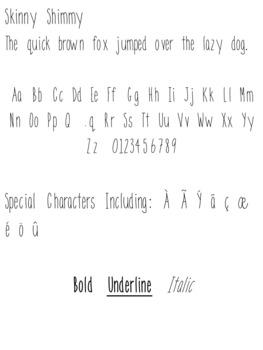 Imagine Fonts-Skinny Shimmy