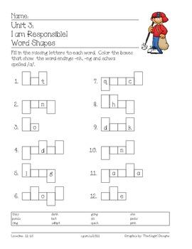 Imagine It! (1st Grade) -  Unit 3:  I am Responsible!