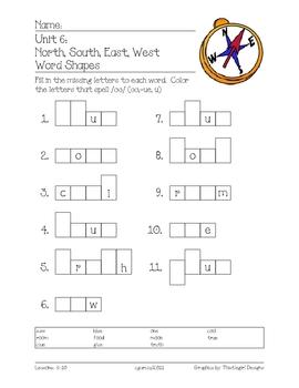 Imagine It! (1st Grade) Unit 6: North, South, East, West
