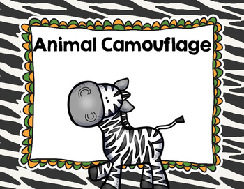 """Imagine It """"Animal Camouflage""""  Unit 4.1 Reading Focus Wall & Task Cards"""