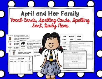 """Imagine It """"April and Her Family"""" Unit 6.1 Reading Focus Wall"""