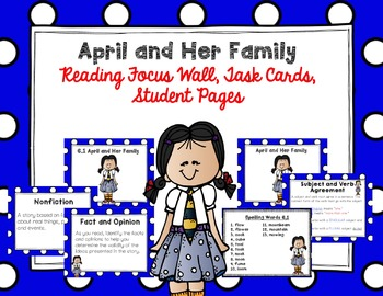 "Imagine It ""April and Her Family"" Unit 6.1 Reading Focus Wall"