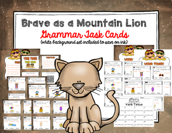 """Imagine It """"Brave as a Mountain Lion""""  Unit 5.5 Reading Focus Wall-Task Cards"""