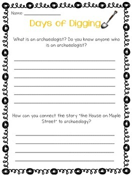 Imagine It Days of Digging Grade 3 {Editable}