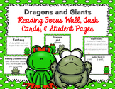 """Imagine It """"Dragons and Giants""""  Unit 5.1 Reading Focus Wall-Task Cards & MORE"""