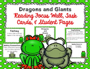 "Imagine It ""Dragons and Giants""  Unit 5.1 Reading Focus Wall-Task Cards & MORE"