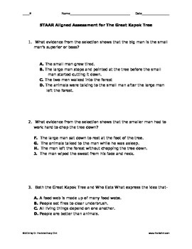 Imagine It Fourth Grade:  The Great Kapok Tree STAAR assessment (English)