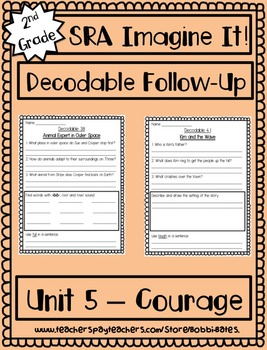Imagine It Getting Started & Unit 1-6 Decodable Worksheets