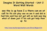 Imagine It Getting Started - Unit 2 Word Wall Words