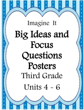 Imagine It!:  Grade 3 Big Idea and Focus Questions Posters