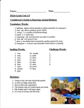 Crinkleroot's Guide to Knowing Animal Habitats:  Imagine It Grade 3