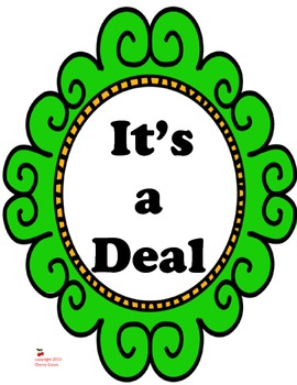 It's a Deal:  Imagine It, Grade 3
