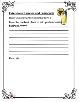 Lemons and Lemonade:  Imagine It - Grade 3