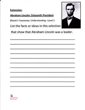 Abraham Lincoln Sixteenth President written by Mike Venezia, Imagine It Grade 4