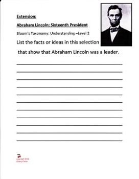 Abraham Lincoln Sixteenth President written by Mike Venezia, Imagine It Grade 4