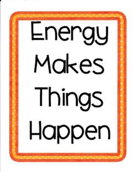 Energy Makes Things Happen:  Imagine  It Grade 4