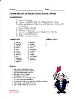 How Ben Franklin Stole the Lightning:  Imagine It, Grade 4