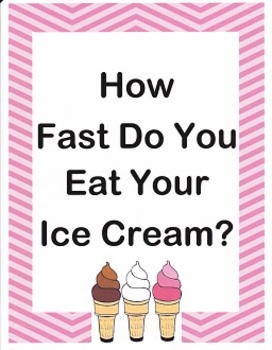 How Fast Do You Eat Your Ice Cream? imagine It Grade 4