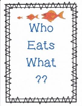 Who Eats What:  Imagine It - Grade 4