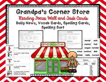 "Imagine It ""Grandpa's Corner Store""  Unit 3.5 Reading Focus Wall"