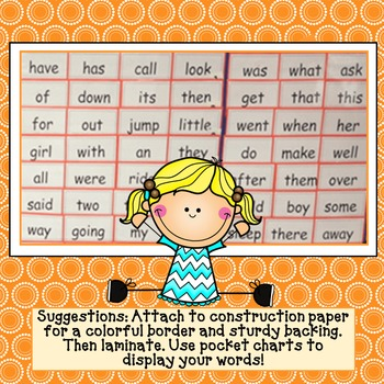 Imagine It! High Frequency Words for Word Wall