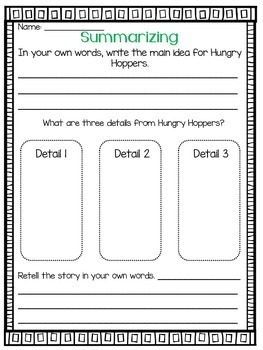 Imagine It Hungry Hoppers Grade 2 {Editable}