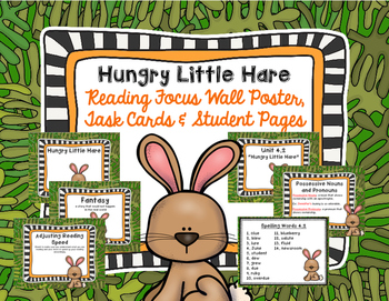 "Imagine It ""Hungry Little Hare""  Unit 4.2 Reading Focus Wall & Task Cards"