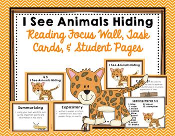 "Imagine It ""I See Animals Hiding""  Unit 4.5 Reading Focus Wall"