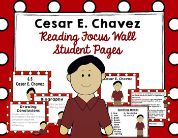"Imagine It ""Cesar E. Chavez"" Unit 6.5 Reading Focus Wall"