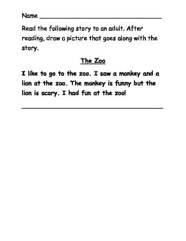 Imagine It Kindergarten Weekly Spelling Homework Packets