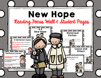 "Imagine It ""New Hope"" Unit 6.2 Reading Focus Wall"