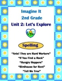 Imagine It Reading Grade 2 Spelling List and  Activities Unit 2 Let's Explore